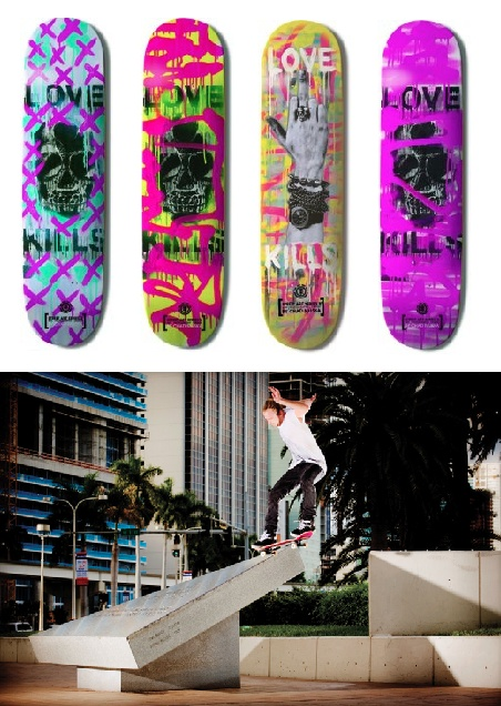 Skateboard Art Love