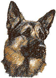 Advanced Embroidery Designs - German Shepherd III
