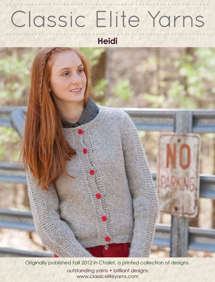 Heidi Cardigan in Classic Elite Yarns MountainTop Chalet - Downloadable PDF. Discover more patterns by Classic Elite Yarns at LoveKnitting. The world's largest range of knitting supplies - we stock patterns, yarn, needles and books from all of your favour