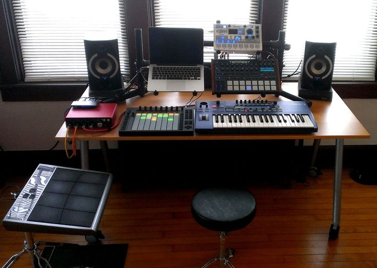 Cool music production setup ft. Ultranova, Push, Tempest