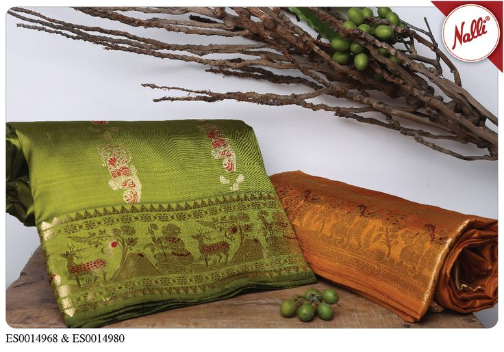 Nothing like an easy,breezy,beautiful rustic coloured Baluchari! Check out these…