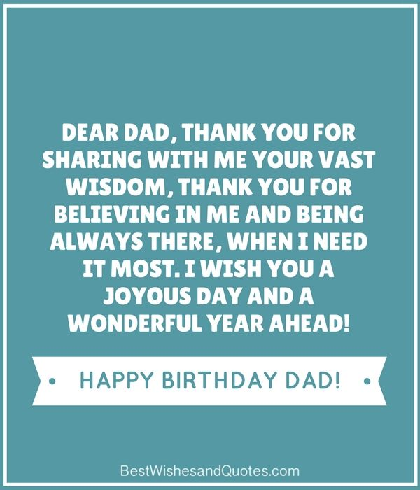 Happy Birthday to my Special Dad