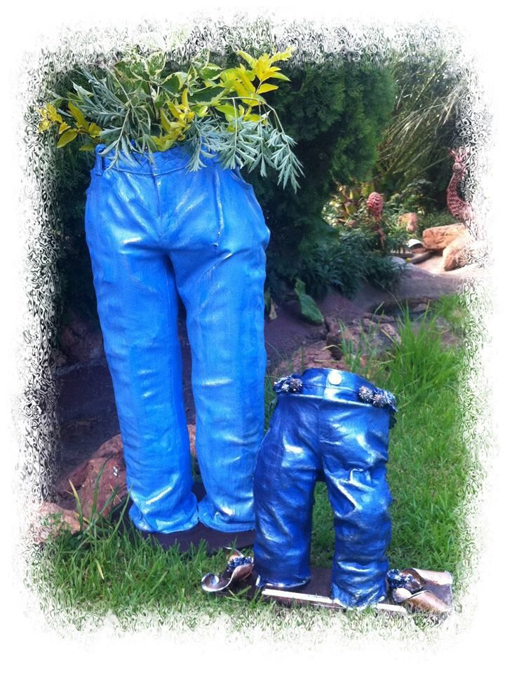Denim en Tokreen = Plant pot houer