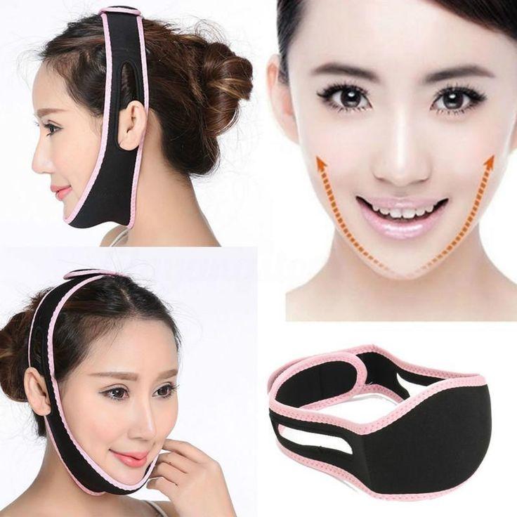 Face V-Line Slim Lift Up Mask Chin Cheek Slimming Strap Belt Anti-Aging Band J