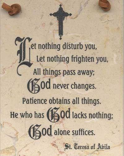 St. Theresa of Avila, Ora Pro Nobis.  #Catholic #Prayer