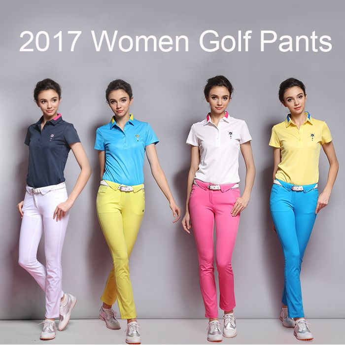 Golf pants women Brand exercise sports pants women's trousers girls golf slim pants Women golf trousers