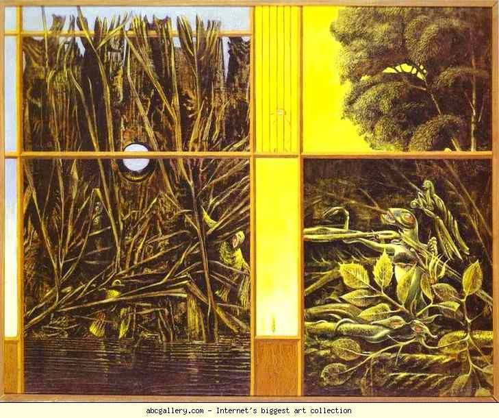 Max Ernst. Painting for Young People. 1943. Oil on canvas. 60 x 75 cm. Private collection.