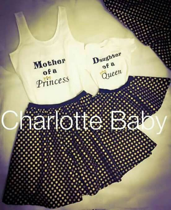 Mother and daughter outfits - Way Cute!