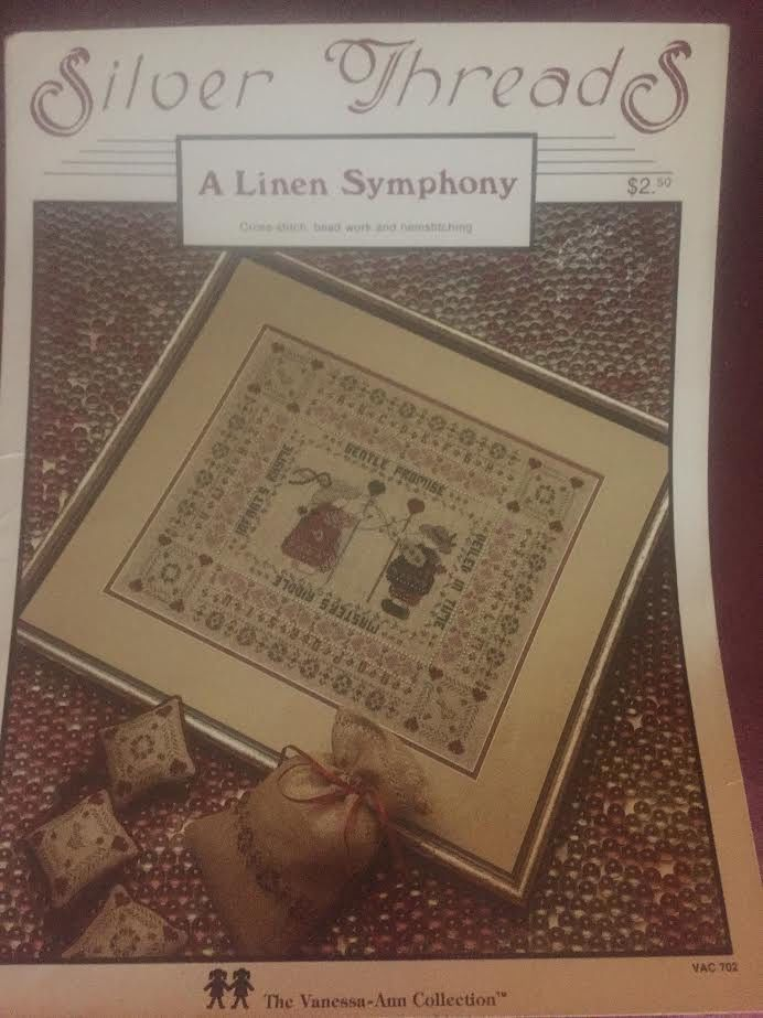 1983 Silver Threads A Linen Symphony Cross-stitch, bead work and hemstitching- the Vanessa-Ann Collection #702. Slightly yellowed tri-fold pamphlet but still clear and easy to read instructions and graphs. | eBay!