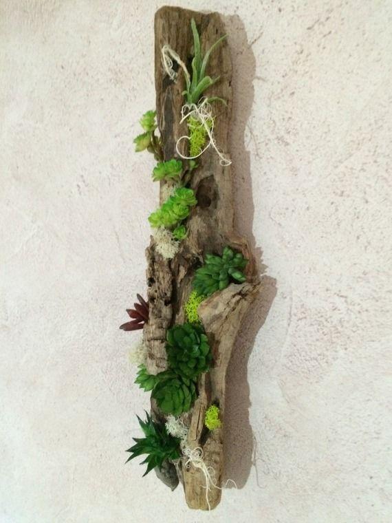 Les 25 meilleures id es de la cat gorie cadre succulente sur pinterest plantes succulentes - Fabriquer un mur vegetal ...