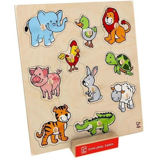 AUNTIE TANIA AND UNCLE TOMMY GETTING THIS! Hape Friendly Animals Knob Puzzle
