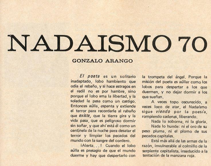 Gonzalo #Arango - Las tablas sin Ley (fragmento)En #Nadaismo 70 Nº 1