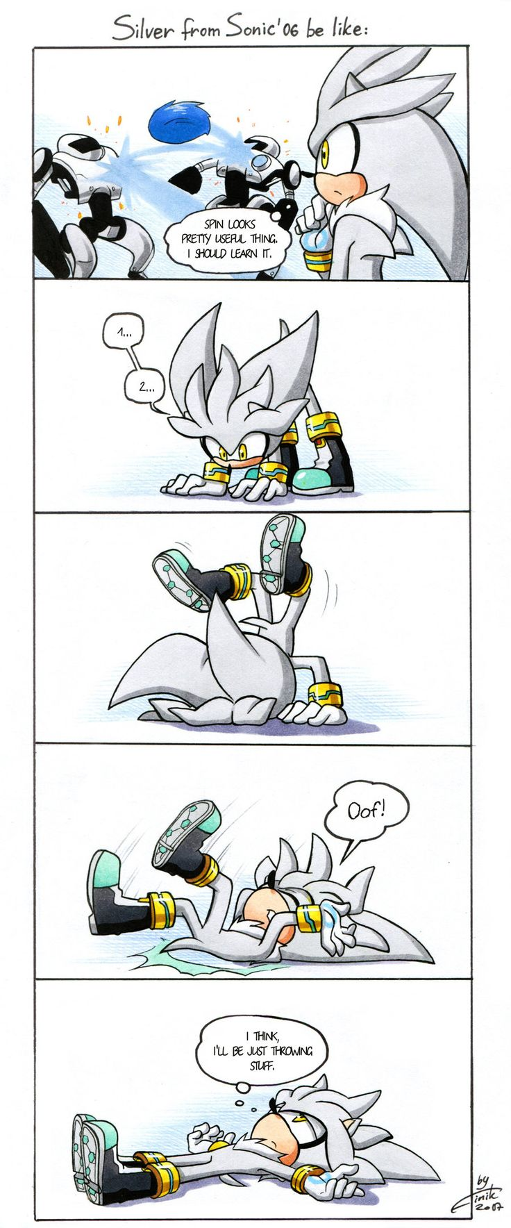 Silver's spin by FinikArt on DeviantArt<<<ok that was friggin adorable