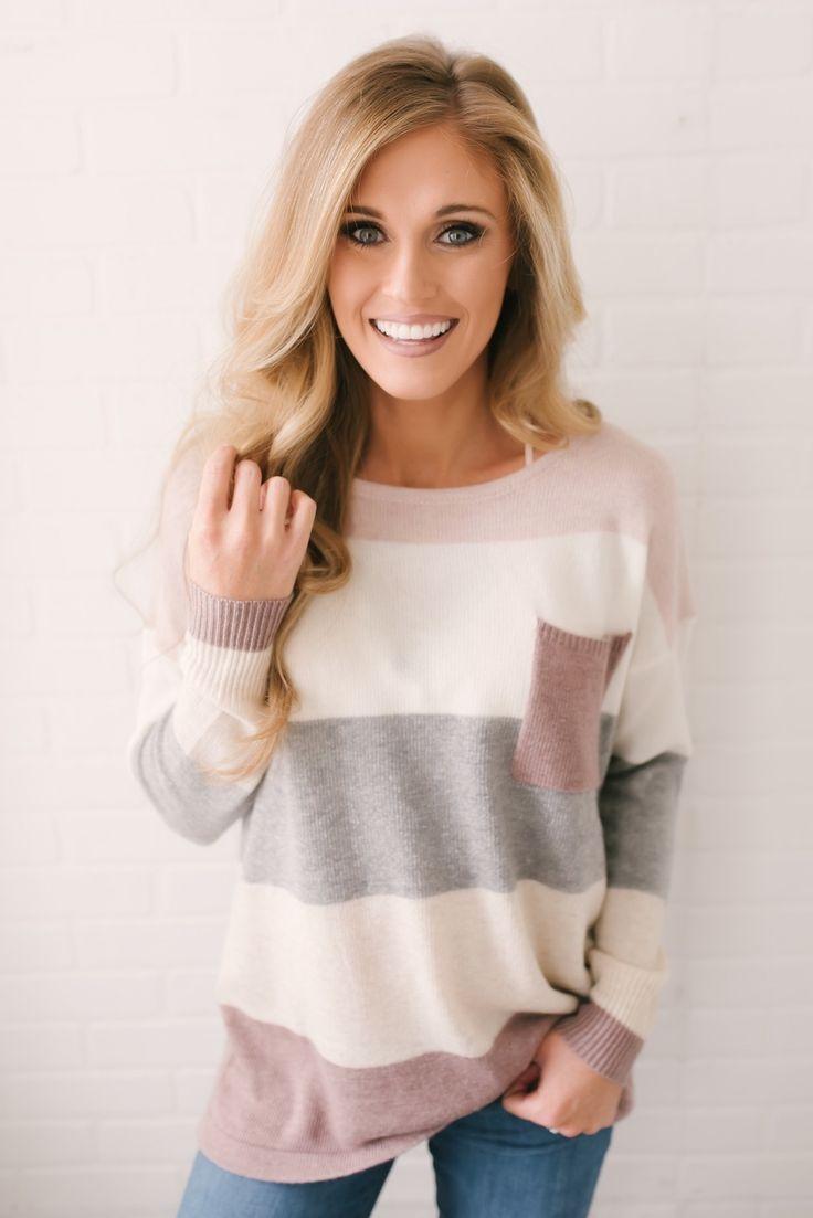 Arendelle Colorblock Pocket Sweater – Mauve Multi