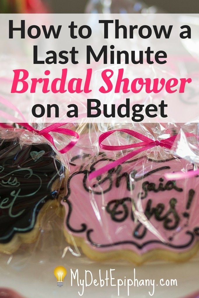 guide bridal showers last minute