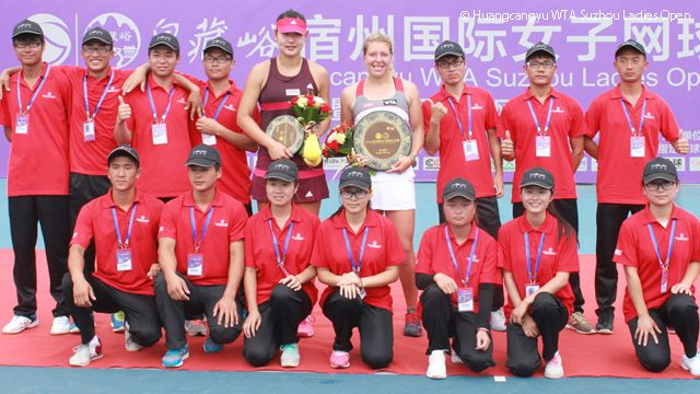 9/6/14 Anna-Lena Friedsam def. home-town fave Duan Ying-Ying 6-1, 6-3 in the FINAL to win the Huangcangyu WTA Suzhou Ladies Open,  the biggest title of her career!