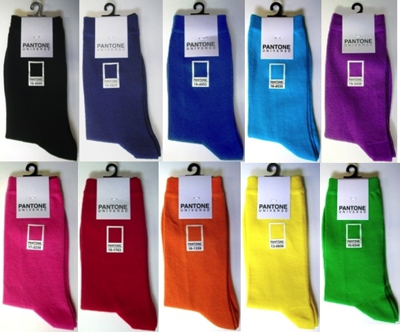Keep those feet warm with our Pantone palette socks. LOVE!!!