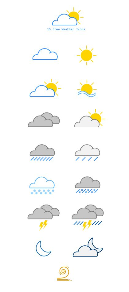15 Free Weather Vector Icons on Behance