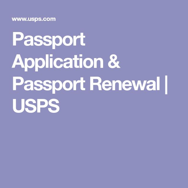 Passport Application & Passport Renewal | USPS