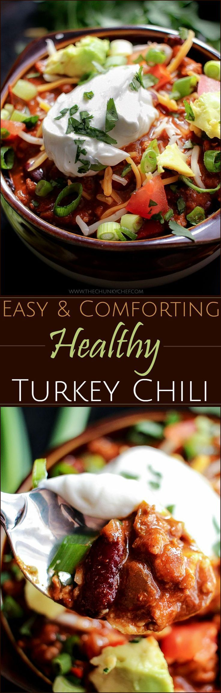 Healthy Turkey Chili | The Chunky Chef | Chili is such a perfect ...