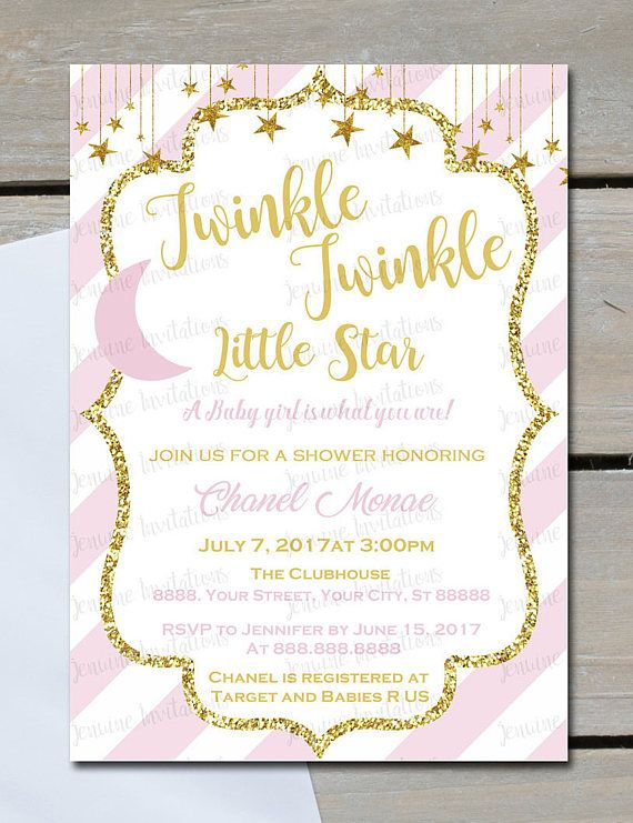 17 best images about twinkle twinkle little star baby shower on, Baby shower invitations