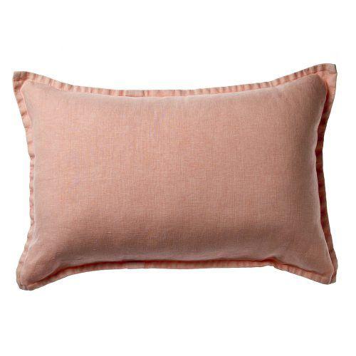 Vintage Washed Linen Cushion Blush, linen cushion, cushion