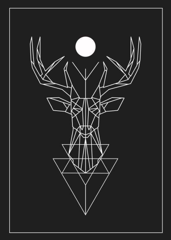 best 25  geometric deer ideas on pinterest