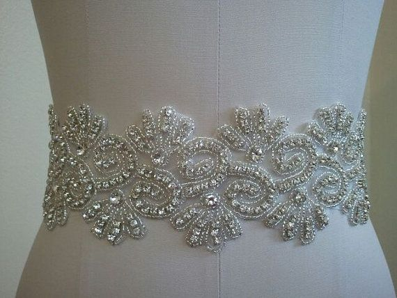 Wedding Belt, Bridal Belt, Sash Belt, Crystal Rhinestone - Style B20001 on Etsy, $78.00