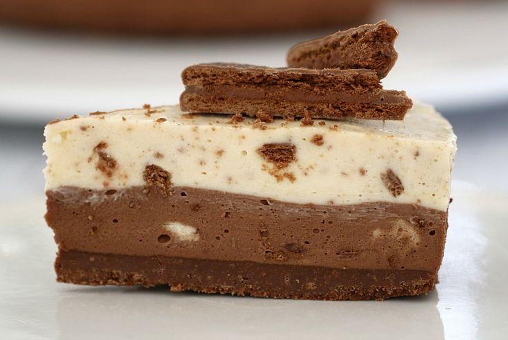 No-Bake Double Layer Tim Tam Cheesecake #Chocolate #BakePlaySmile