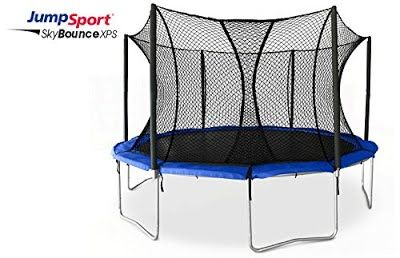 [Features & Benefits] JumpSport SkyBounce XPS Trampoline System — Includes Integrated Safety Enclosure — Safest, Overlapping Doorway Entry — 12' and 14' Sizes Available