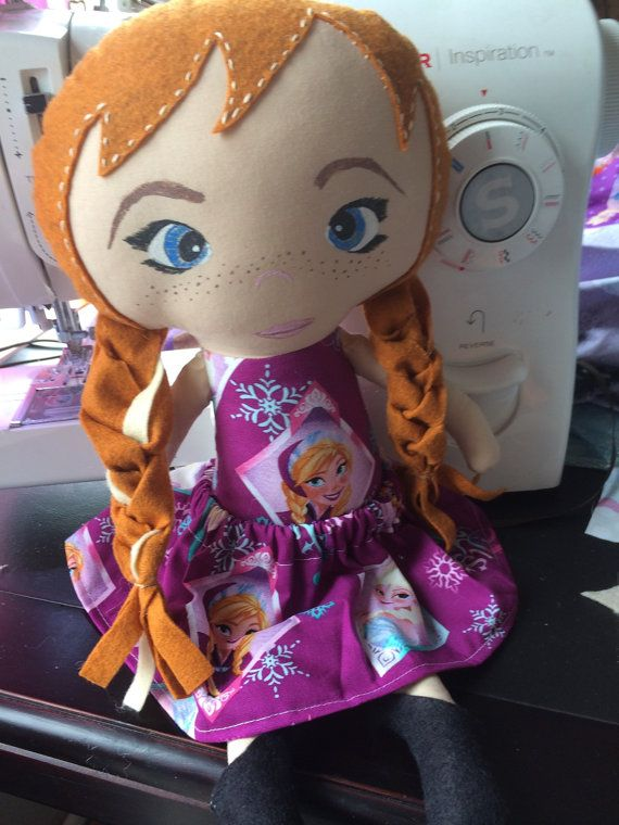 Princess Anna Frozen doll made to order on Etsy, $30.00