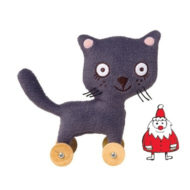 Kids Christmas gifts - Trousselier pull along cat toy. Buy from Alex and Alexa
