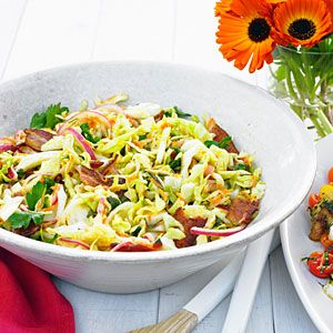 We think everything is better than bacon, and this bacony coleslaw will be perfect with BBQ ribs or chicken.