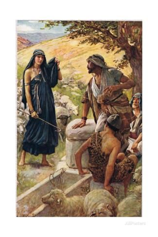 rachel in the bible | Rachel, Illustration from 'Women of the Bible', Published by the ...