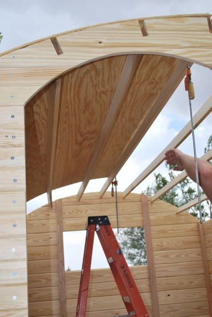 Purlin Notched Roof for Shepherd's Hut More