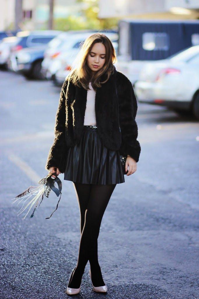 Look do dia: Casaco de pele falsa - Ana's Fashion Blog