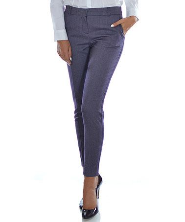 Loving this Purple Skinny Pants on #zulily! #zulilyfinds