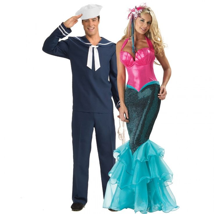 Couples Costumes | Mermaid and Sailor Costume - Adult Costumes For Couples  sc 1 st  Pinterest & 11 best halloween costume ideas images on Pinterest | Carnival ...