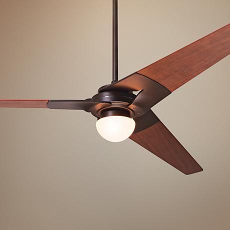 """52"""" Modern Fan Torsion Dark Bronze Lighted Ceiling Fan"""
