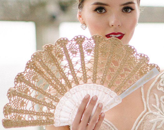 Cordón mano ventilador - oro mano ventilador - ramo alternativa Español ventilador-España-regalo de boda para su regalo bajo 50-cordón ventilador - plegable ventilador de la mano