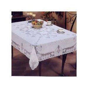 Violet Linen Vinyl Lace Betenburg Design Tablecloth