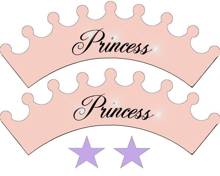 Wrappers Princesa do queque para Imprimir