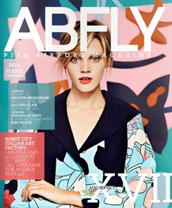ABFLY Magazine Cover | Aeroporto Internazionale di Pisa - ABfly  Magazine - Aeroporto Internazionale di Pisa pg. 82-83 Carlo Zauli exposition at Flair Florence   www.flair.it