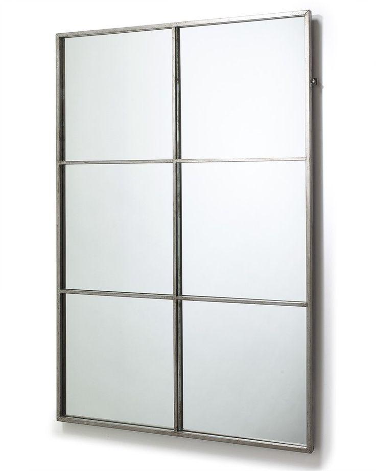 mirrordeco.com — Window Frame Mirror - Antique Silver Frame H:118cm