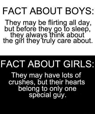 So guys be flirting all day while girls only got crushes ...damn! Oc