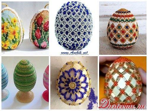 Пасхальные яйца из бисера. Схемы и мастер-классы