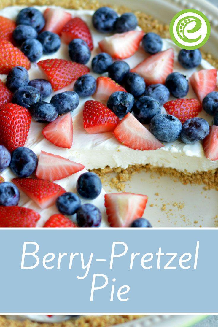 Berry Pretzel Pie | Spring Dessert Recipe | eMeals.com