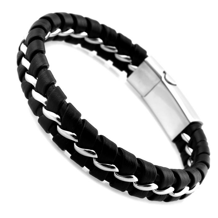 Love this black and silver bracelet.