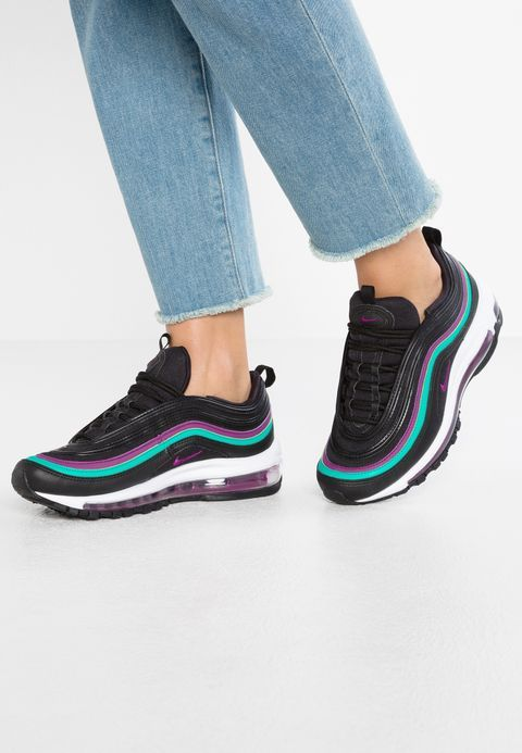 watch bbbee aaef3 Nike Sportswear AIR MAX 97 - Baskets basses - black bright grape clear  emerald