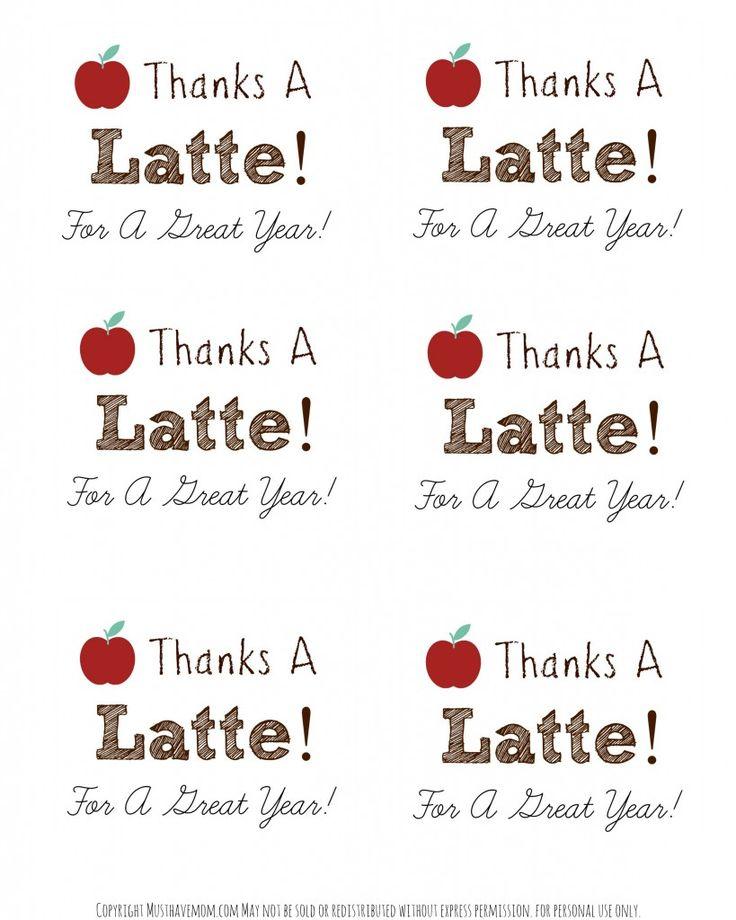 "DIY Personalized Teacher Mug + ""Thanks A Latte"" Printable"